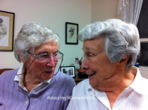 Patti (left) and Gaby: a couple of new BFFs