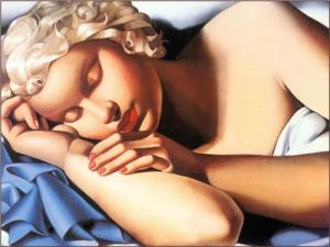 Sleeping Woman (1935) A beautiful piece of art by Tamara de  Lempicka (see link below)