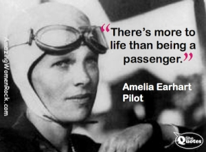 Amelia Earhart more than passenger